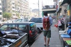 Vista della via del Myanmar in Rangoon immagine stock