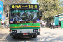 Vista della via del Myanmar Rangoon fotografie stock