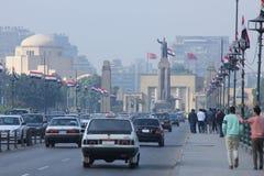 Vista della via dell'Egitto Il Cairo fotografia stock libera da diritti
