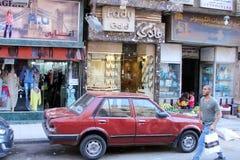 Vista della via dell'Egitto Il Cairo Immagini Stock Libere da Diritti