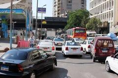 Vista della via dell'Egitto Il Cairo Immagine Stock