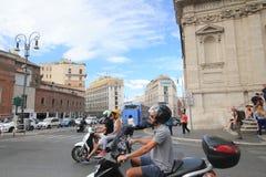 Vista della via dell'Italia Roma Fotografie Stock