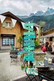 Vista della via della città di Chamonix-Mont-Blanc, Francia Fotografia Stock Libera da Diritti