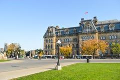 Vista della via della città di Ottawa Fotografie Stock