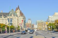Vista della via della città di Ottawa Fotografie Stock Libere da Diritti