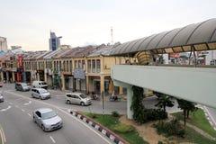 Vista della via della Malesia Penang fotografia stock libera da diritti