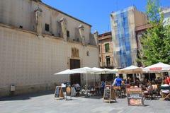 Vista della via della Spagna Barcellona Immagine Stock