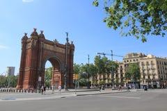 Vista della via della Spagna Barcellona Fotografia Stock