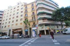 Vista della via della Spagna Barcellona Fotografie Stock