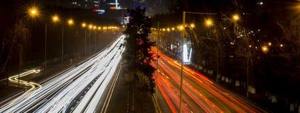 Vista della via di Al-farabi Fotografie Stock