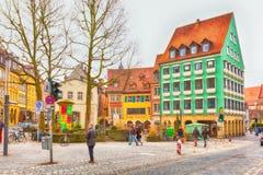 Vista della via di Bamberga della città storica in Germania Immagini Stock Libere da Diritti