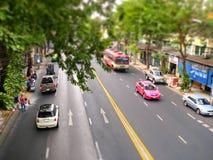 Vista della via di Bangkok   Fotografie Stock