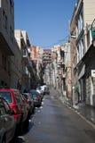 Vista della via di Barcellona Fotografia Stock Libera da Diritti
