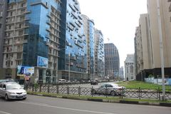 Vista della via di Batumi Immagine Stock Libera da Diritti