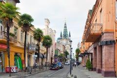Vista della via di Batumi Fotografie Stock Libere da Diritti