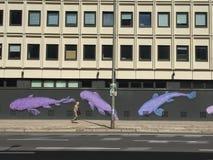 Vista della via di Berlino Immagini Stock