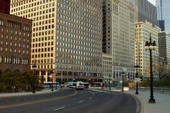 Vista della via di Chicago Fotografia Stock