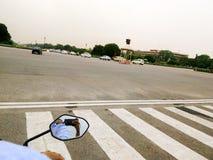 Vista della via di Delhi Fotografia Stock