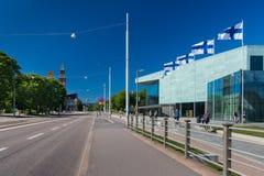 Vista della via di Helsinki Immagini Stock Libere da Diritti