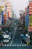 Vista della via di Hsinchu, città di Taiwan Immagine Stock