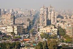 Vista della via di Il Cairo Immagini Stock