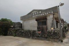 Vista della via di Ishigaki nel Giappone Fotografie Stock Libere da Diritti