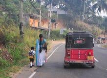 Vista della via di Kandy Immagini Stock Libere da Diritti