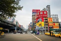 Vista della via di Kaohsiung fotografia stock libera da diritti
