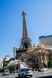 Vista della via di Las Vegas Boulevard Fotografia Stock