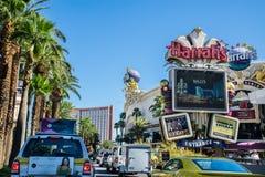 Vista della via di Las Vegas Boulevard Immagini Stock