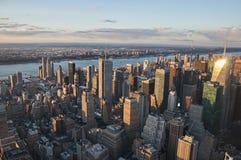 Vista della via di Manhattan dall'Empire State Building in New York immagine stock