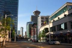 Vista della via di mattina di Vancouver Immagini Stock