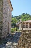 Vista della via di Melnik, Bulgaria immagine stock