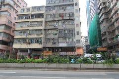 Vista della via di Mong Kok in Hong Kong Immagine Stock Libera da Diritti