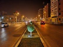 Vista della via di notte Fotografia Stock