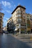 Vista della via di Palma de Mallorca fotografia stock libera da diritti