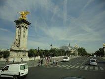 Vista della via di Parigi fotografia stock