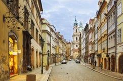 Vista della via di Praga Immagini Stock
