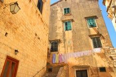 Vista della via di Ragusa Fotografia Stock