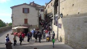 Vista della via di San Marino stock footage