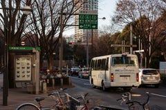 Vista della via di Shinjuku immagine stock