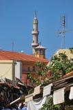 Vista della via di Socrates, di Suleiman Mosque e di Aga Camii Mosqu Immagini Stock Libere da Diritti