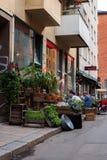 Vista della via di Stoccolma Fotografie Stock