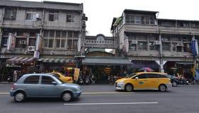 Vista della via di Taichung Fotografie Stock Libere da Diritti