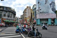 Vista della via di Taichung Immagine Stock
