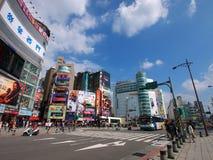 Vista della via di Taipeh Fotografie Stock