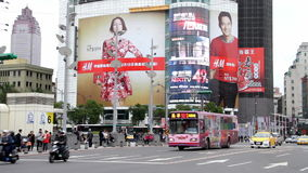 Vista della via di Taipei Hsimending HD stock footage