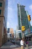 Vista della via di Toronto del centro, Fotografia Stock Libera da Diritti