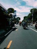 Vista della via di Yogyakarta Fotografia Stock