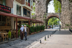 Vista della via di Zeyrek a Costantinopoli, Turchia Fotografie Stock Libere da Diritti